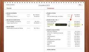 Orçamento mensal com foco nos gastos do dia-a-dia