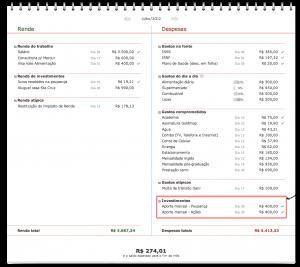Orçamento pessoal: Investimentos